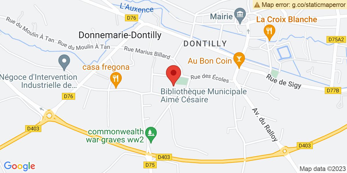Localisation du projet 'MÂT DE COCAGNE ET JEUX DU 14 JUILLET A DONNEMARIE-DONTILLY'
