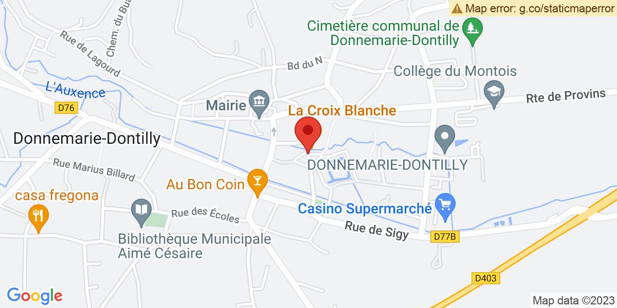Localisation du projet 'Luisetaines et Donnemarie-Dontilly, étapes du défilé commémoratif de la Libération'