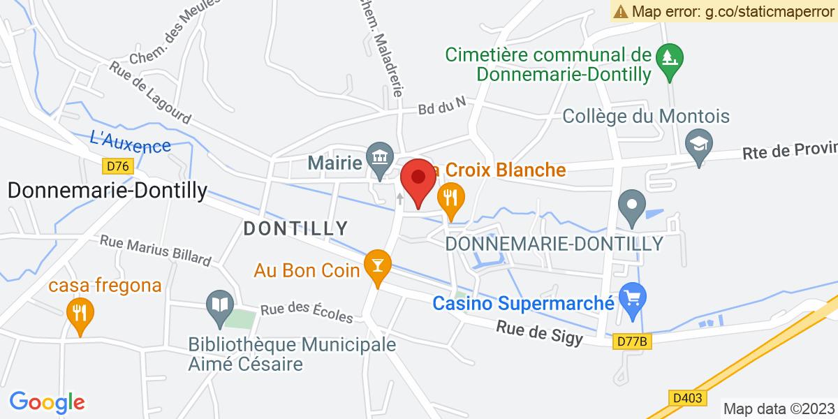 Localisation du projet 'Ouverture du nouveau cabinet dentaire de Donnemarie-Dontilly'