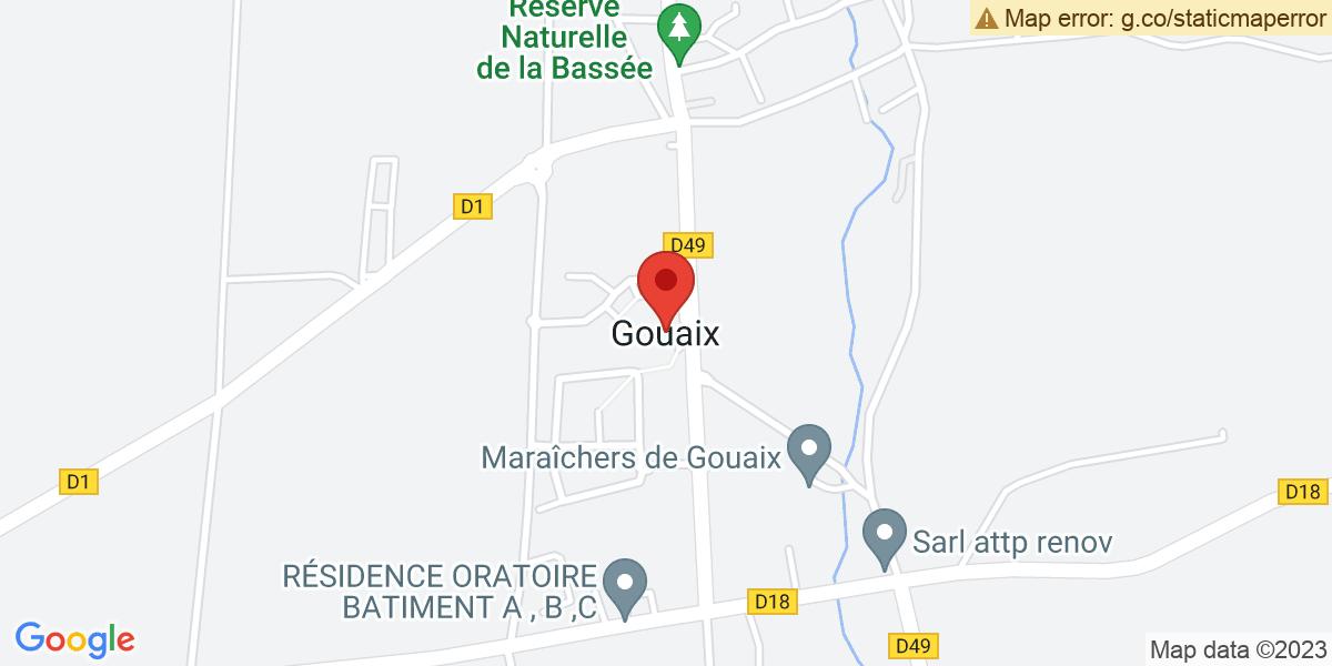 Localisation du projet 'LE LADY COP'S SHOW DE LA SAINT-VALENTIN, à Gouaix'