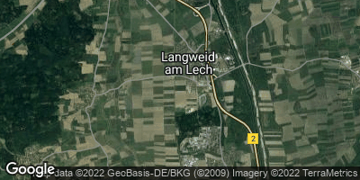 Google Map of Langweid am Lech