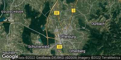 Google Map of Offenburg