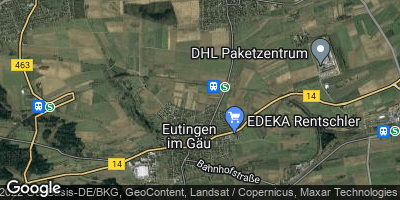 Google Map of Eutingen im Gäu