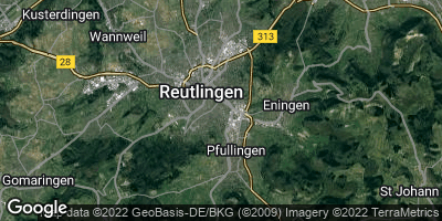 Google Map of Reutlingen