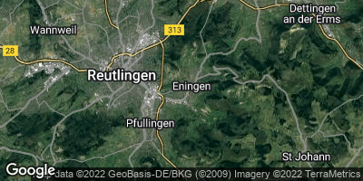 Google Map of Eningen unter Achalm