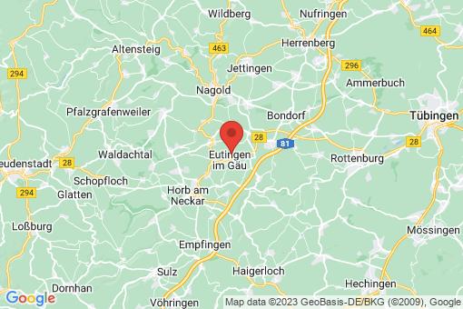 Karte Eutingen im Gäu