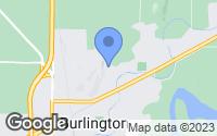 Map of Burlington, WA