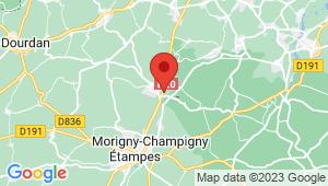 Carte de localisation du centre de contrôle technique ETRECHY