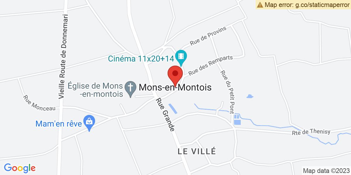 Localisation du projet 'Brocante et voitures anciennes à Mons-en-Montois'