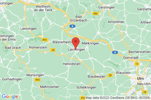 Karte Laichingen