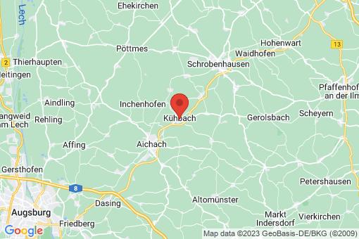 Karte Kühbach