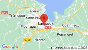 Carte de localisation du centre de contrôle technique TREGUEUX
