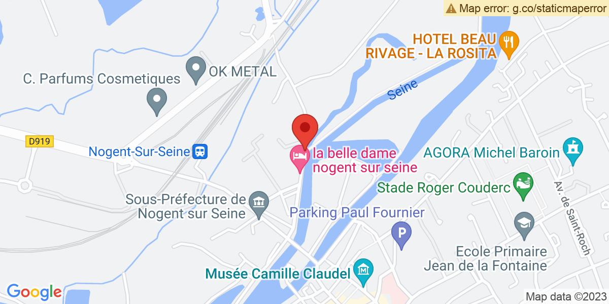 Localisation du projet 'Sculptures et dessins de Cécile Lours Blavette, exposés dans le Pavillon Henti IV, à Nogent-sur-Seine'