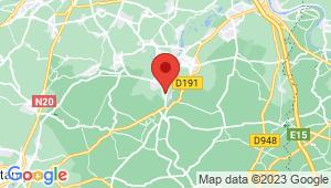 Carte de localisation du centre de contrôle technique ITTEVILLE