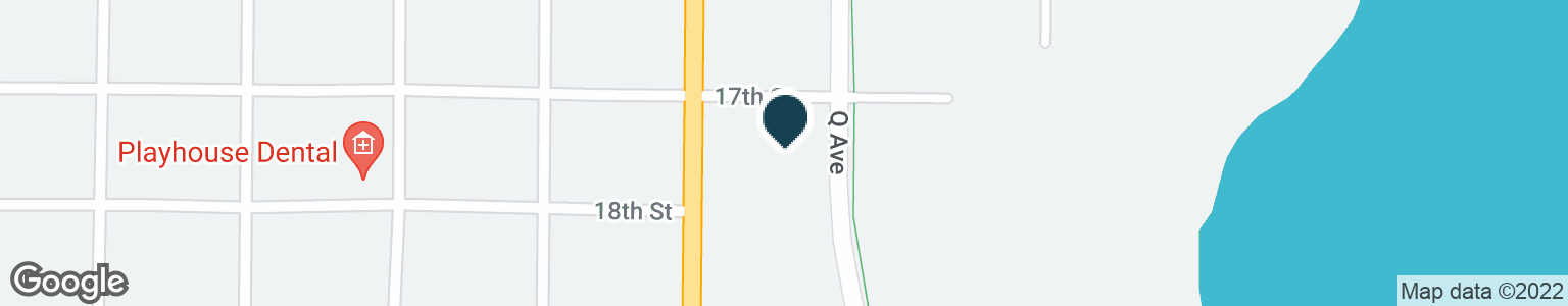 Google Map of909 17TH ST