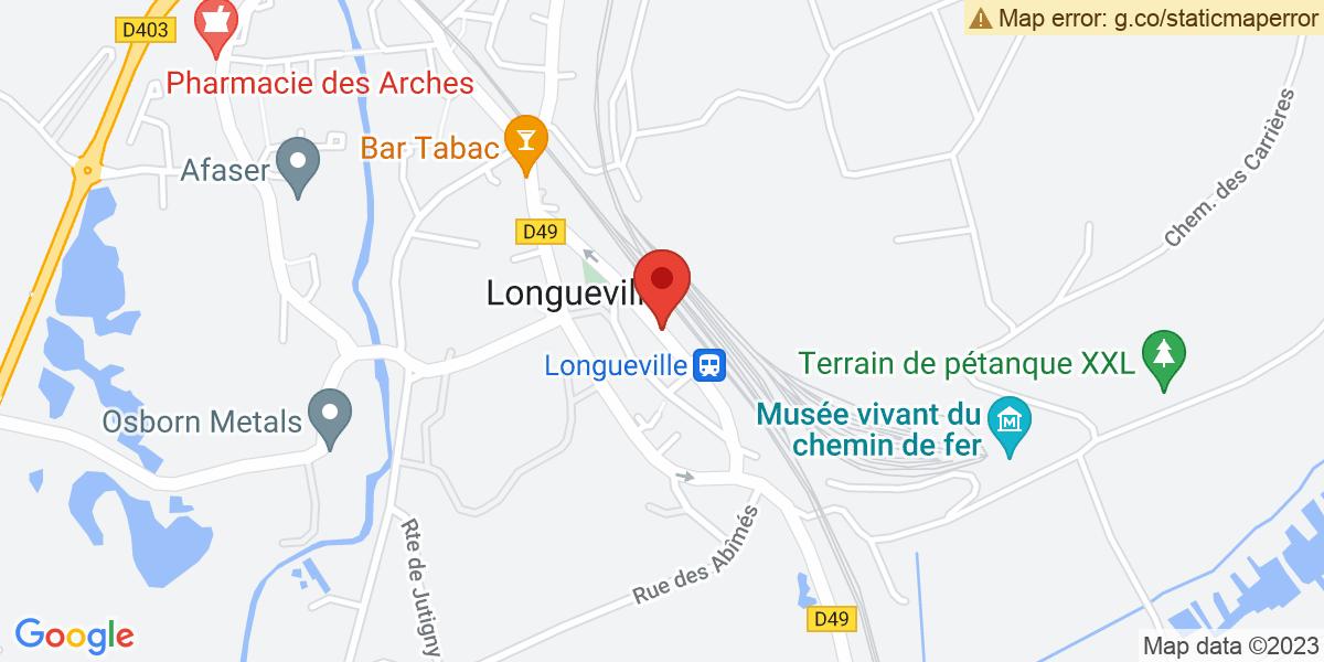 Localisation du projet 'Inauguration du pôle gare de Longueville'