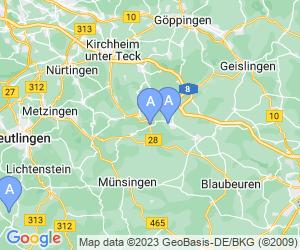 Karte für Bobbahn & Skilifte Donnstetten