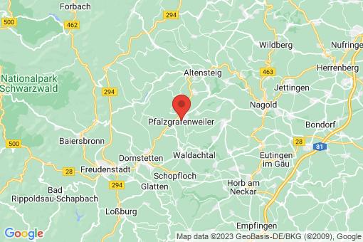 Karte Pfalzgrafenweiler