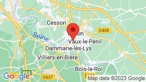 Carte de localisation du centre de contrôle technique DAMMARIE LES LYS