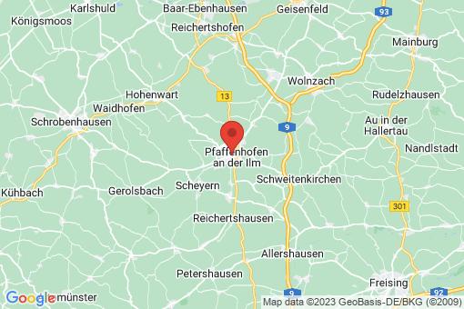 Karte Pfaffenhofen an der Ilm