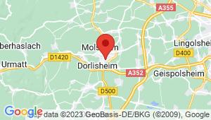 Carte de localisation du centre de contrôle technique MOLSHEIM