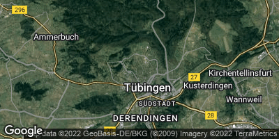 Google Map of Tübingen