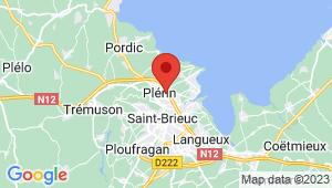 Carte de localisation du centre de contrôle technique Plérin