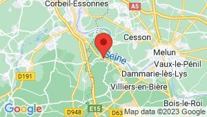 Carte de localisation du centre de contrôle technique SAINT FARGEAU PONTHIERRY