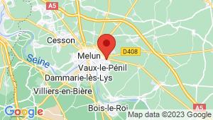 Carte de localisation du centre de contrôle technique VAUX LE PENIL