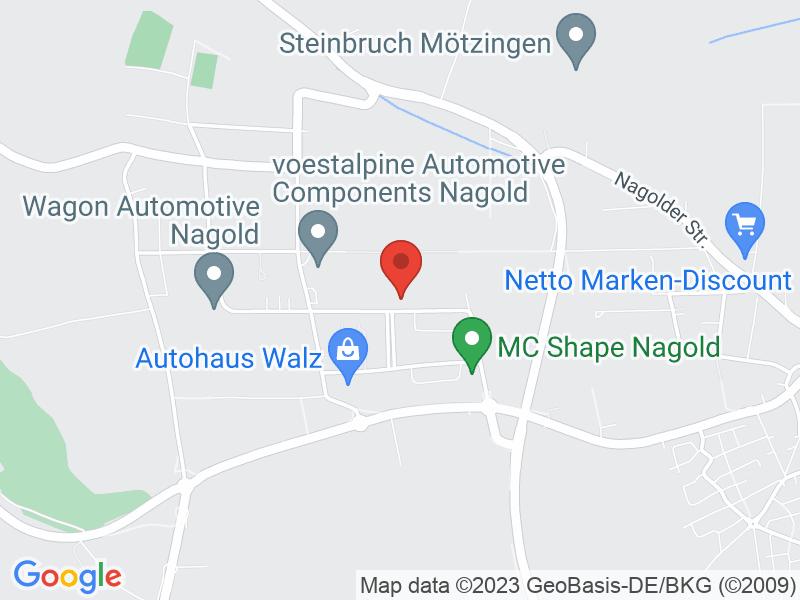 Map of Digital Hub Nagold