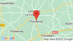 Carte de localisation du centre de contrôle technique Ploudaniel