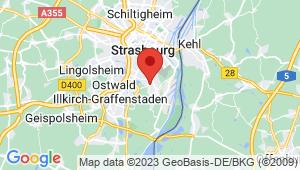 Carte de localisation du centre de contrôle technique Strasbourg