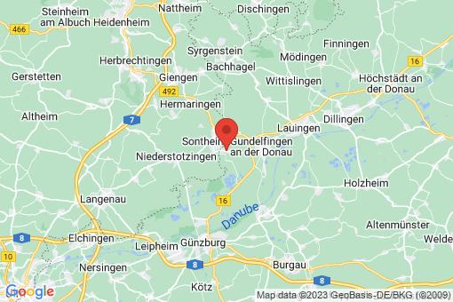 Karte Bächingen an der Brenz