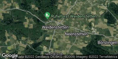 Google Map of Weidenstetten