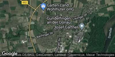 Google Map of Gundelfingen an der Donau