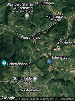 Google Map of Wiesensteig