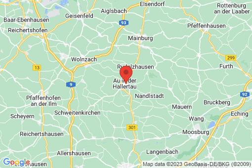 Karte Au in der Hallertau