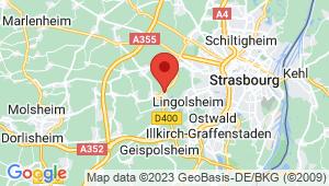 Carte de localisation du centre de contrôle technique HOLTZHEIM