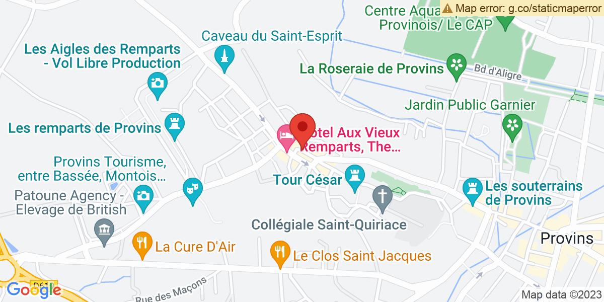 Localisation du projet '«LES NAUFRAGILES» de Marie Lancelot, à l'Hôtel de Savigny, à Provins'