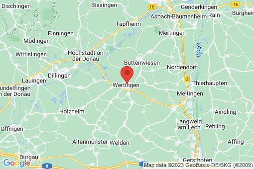 Karte Wertingen