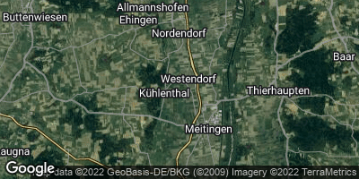 Google Map of Westendorf bei Donauwörth