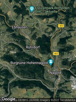 Google Map of Rohrdorf bei Nagold