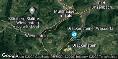 Google Map of Mühlhausen im Täle