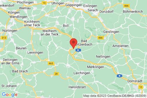 Karte Mühlhausen im Täle