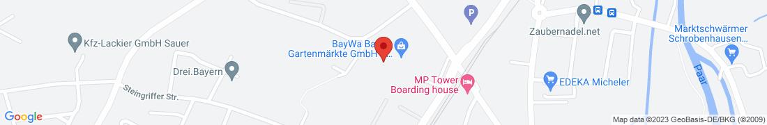 BayWa Baustoffe Schrobenhausen Anfahrt