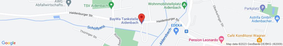 BayWa Tankstelle Aidenbach Anfahrt