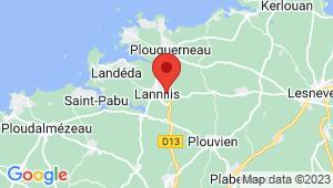 Carte de localisation du centre de contrôle technique LANNILIS