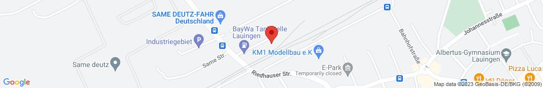 BayWa Tankstelle Lauingen Anfahrt