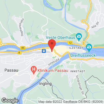 Map of comma Store at Bahnhofstr. 1, Passau,  94032