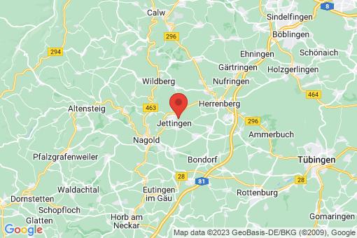 Karte Jettingen